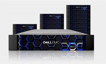 2U 25-bay Dell EMC Unity 380 - 6x 3.2TB SSD ,19x 1,8TB SAS 10k, 4x 10Gbe SFP+ Dual 128GB cache, supp. 60Months