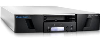 Quantum SuperLoader 3, one LTO-7HH tape drive, Model C, eight slots, 6Gb/s SAS, rackmount, barcode reader