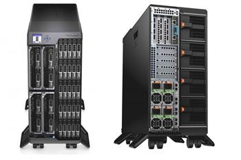 Server DELL PowerEdge VRTX, 1x CPU E5-2630 v3 2.20GHz, 4x16GB RDIMM, 7x900GB SAS